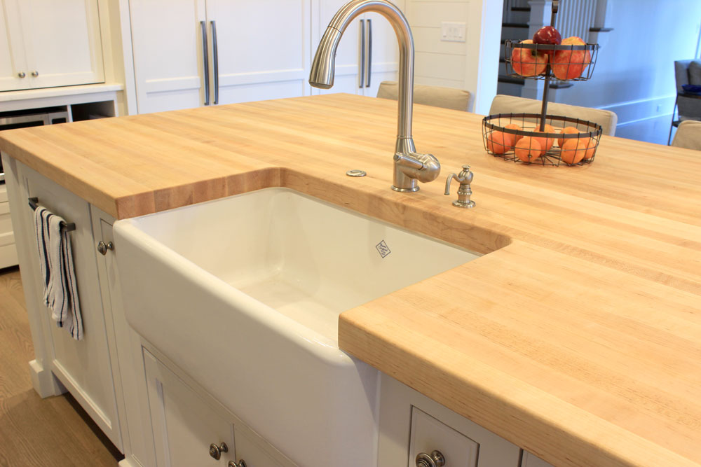 Maple Butcher Block Kitchen Island