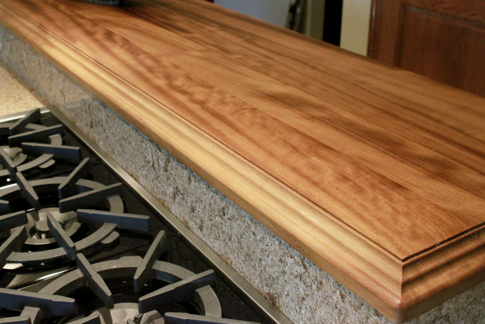 Iroko Raised Kitchen Bar Top