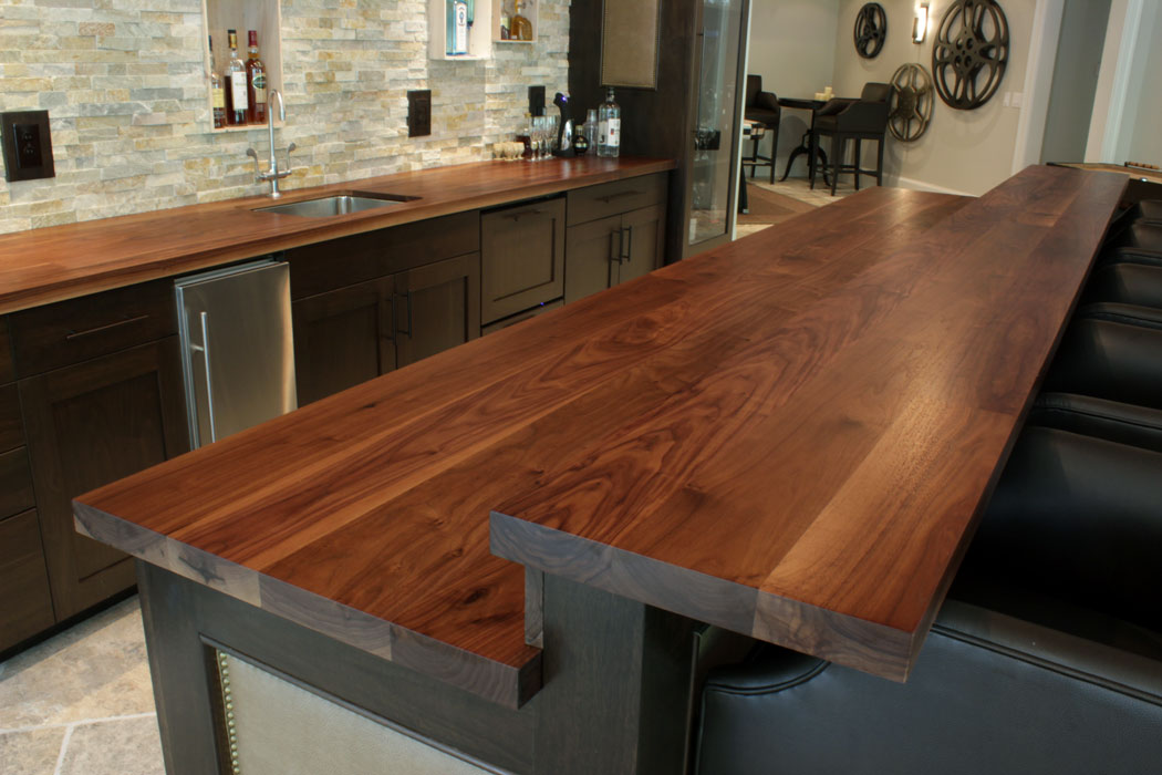 Walnut Raised Kitchen Bar Top Countertop