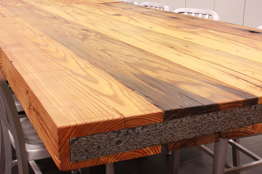 Reclaimed Wood Countertops - J. Aaron