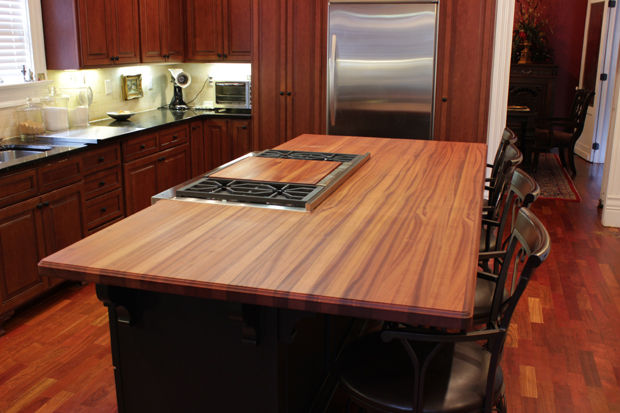Best Finish For Butcher Block Countertop: Sapele Mahogany Countertops