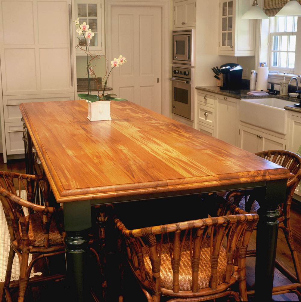 Wood Countertops In Kitchen: Teak Countertops