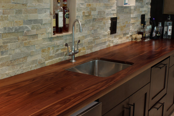 walnut countertops j aaron custom wood countertops. Black Bedroom Furniture Sets. Home Design Ideas