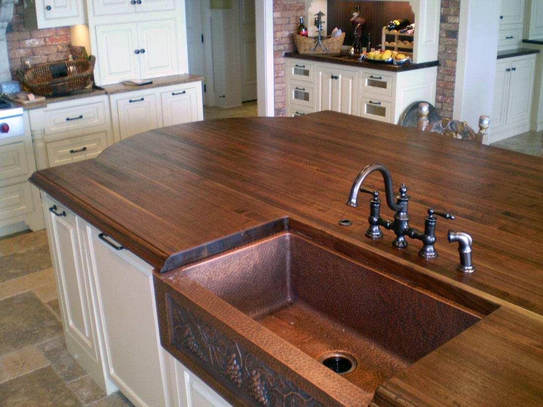 Edge Grain Walnut Kitchen Island