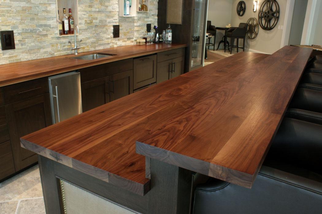 Home / Wood Countertop Gallery / Wood Countertop Photographs / Walnut ...