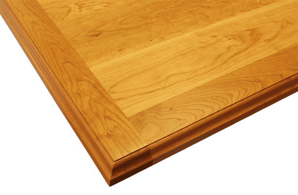 American Cherry Wood Countertop with Built-Up Edges