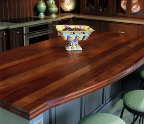 Jatoba Wood Kitchen Island Top
