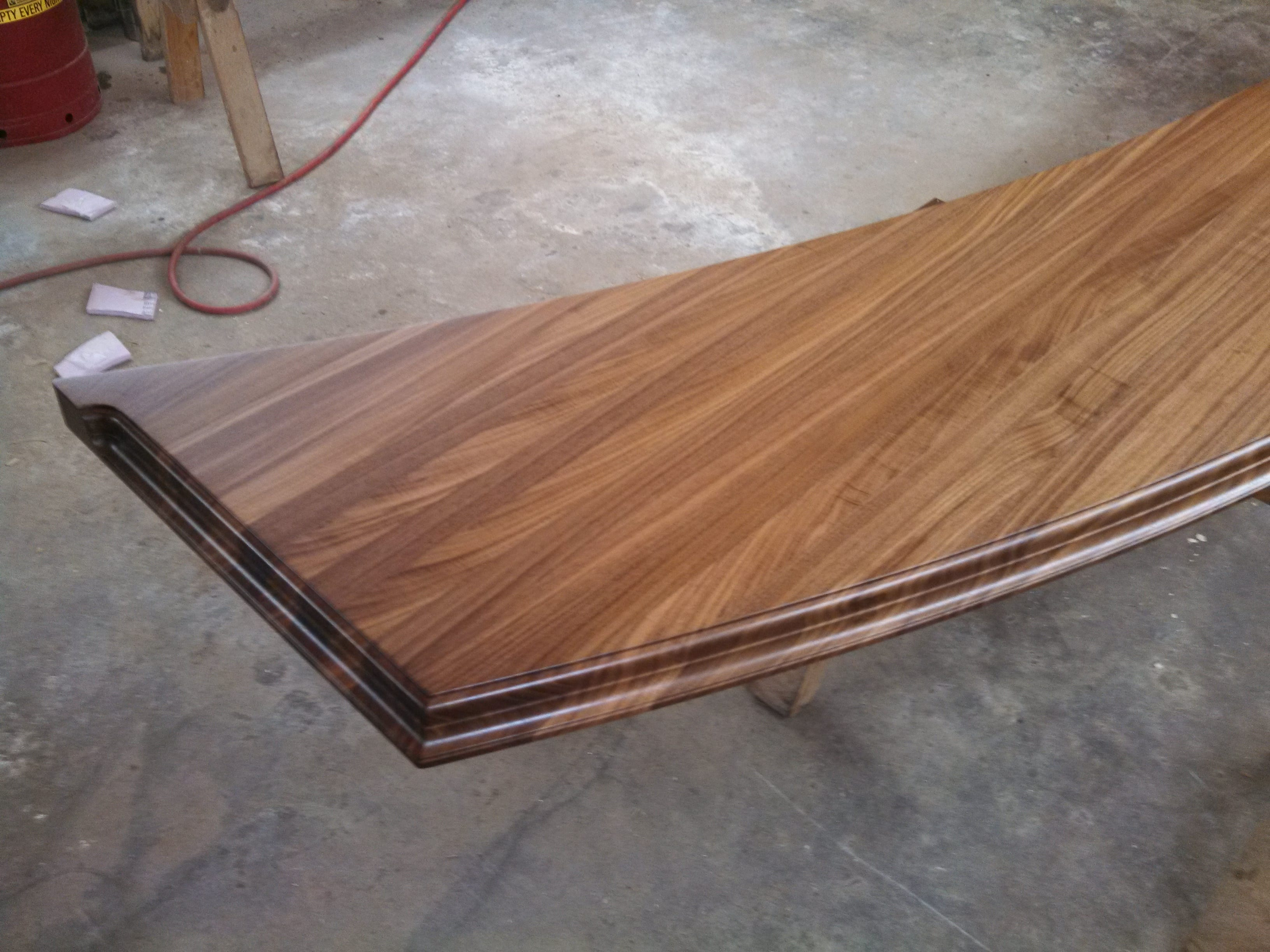 Walnut wood bar top.