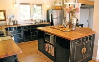 Hardwood countertops