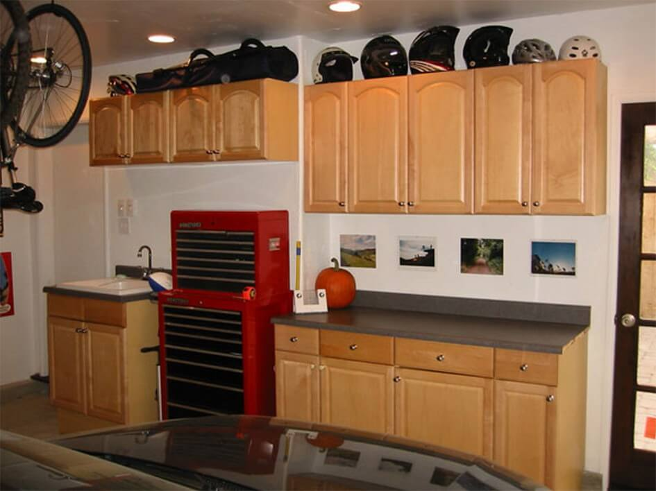Kitchen Countertop Storage Ideas Part - 41: Garage-storage-cabinet-enchanting-appliance-garage-for-kitchen-