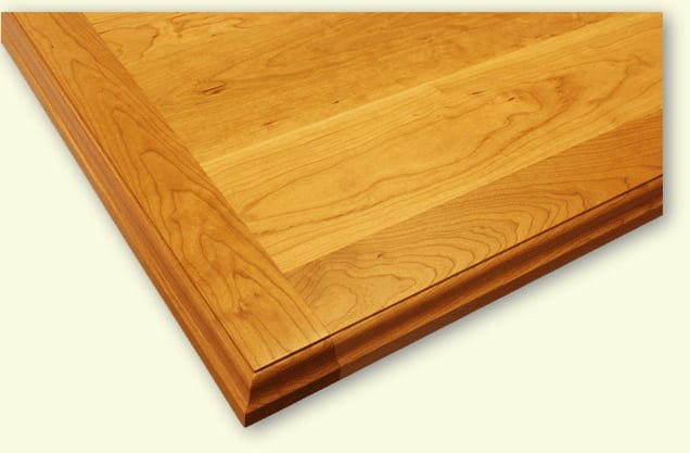 Cherry countertop with bread board ends