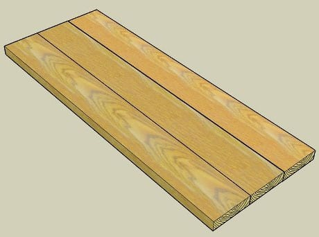 Plank Style Wood Countertop Construction