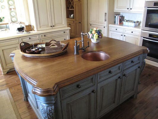 wood kitchen island top finishing a diy wood countertop j aaron 1595