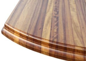 Iroko wood countertop.