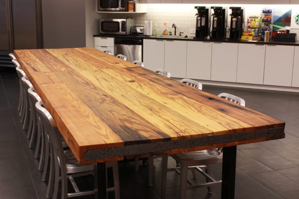 Reclaimed Heart Pine Table Top 2 J Aaron