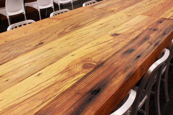 Reclaimed heartpine table top
