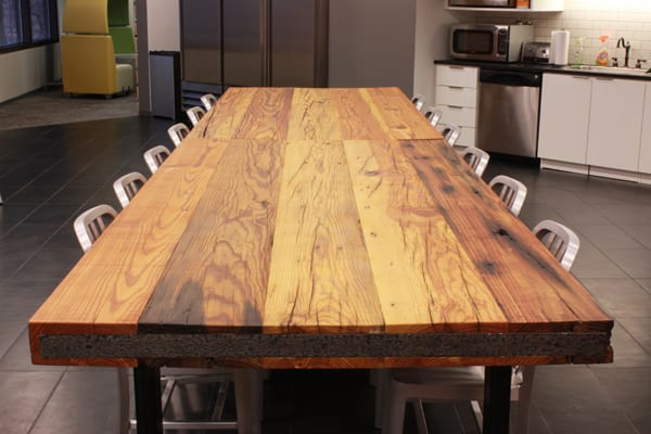 Reclaimed Heart Pine Table Top 5
