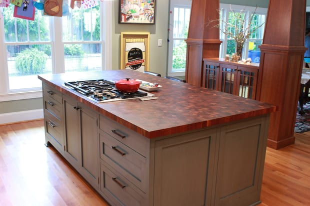 "If you want a larger expanse of wood countertop using around a range makes ""chop and drop,"" a lot simpler than carrying the food over from another area."