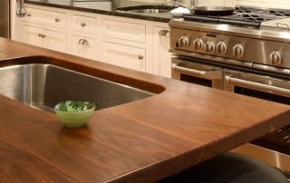 Walnut Kitchen Island Top With Sink