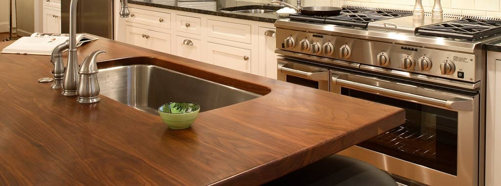 walnut, a favorite choice for kitchen countertops - j. aaron