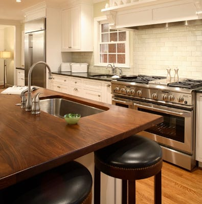 Wood Countertops With Sinks