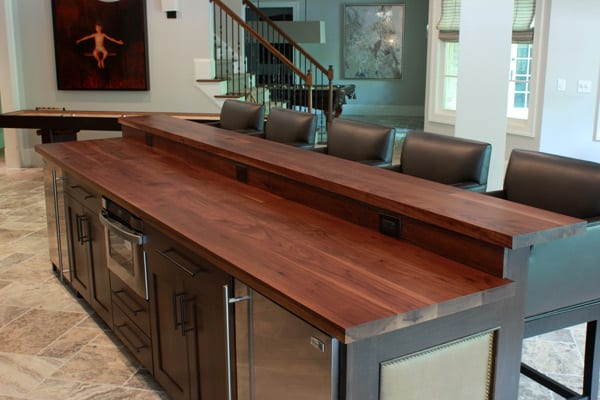 Custom Walnut Counter With Raised Bar Top J Aaron
