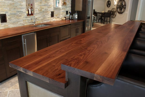 custom walnut counter with raised bar top j aaron. Black Bedroom Furniture Sets. Home Design Ideas