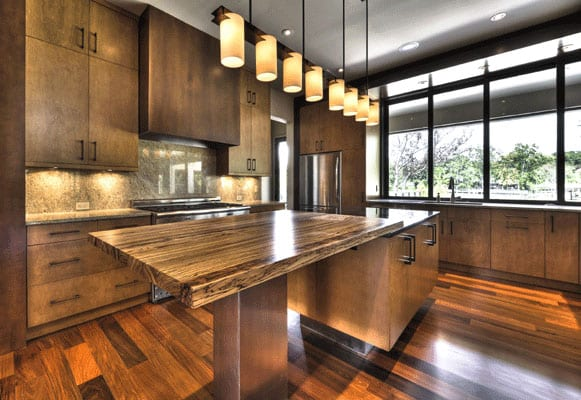 Zebrawood Kitchen Countertop