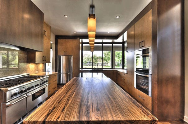 Zebrawood Kitchen Island Top