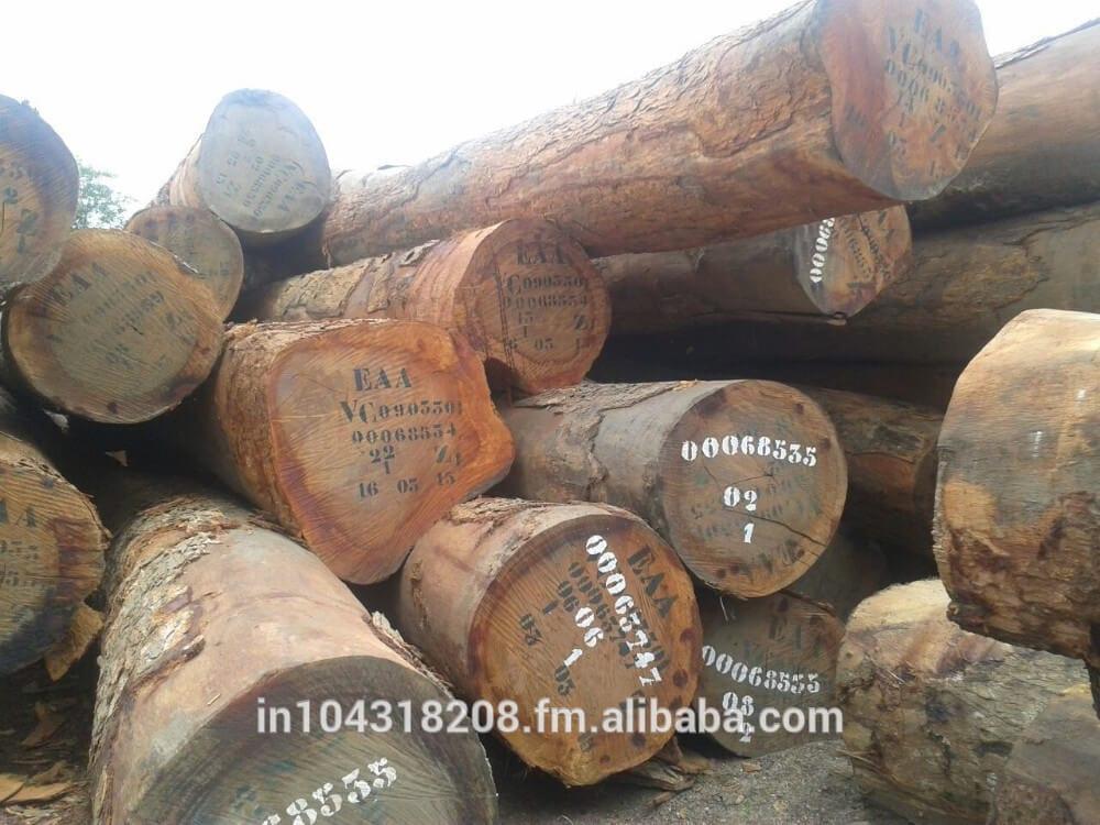 African-Exotic-Hardwood-Azobe-Ekki-Round-Logs