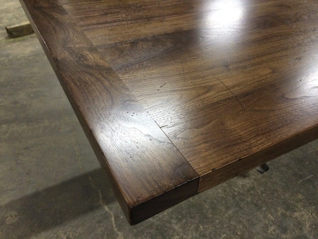 Distressed Walnut Countertop With Breadboard Ends J Aaron