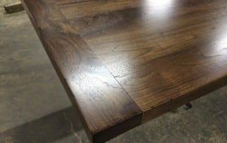 Walnut countertop with breadboard end