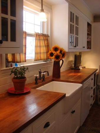 how to stain oak unfinished cabinets