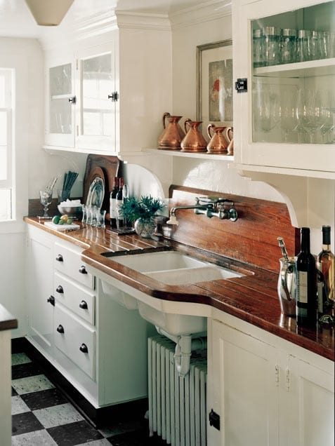 Wood Countertops With Sinks And Wet Areas