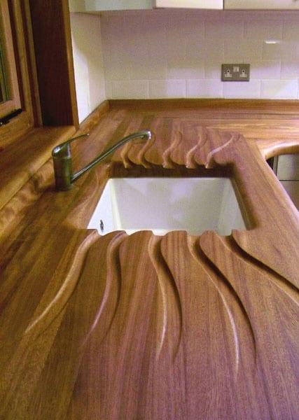 Wood drain board.