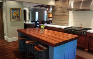terrific wood countertop white kitchen island | Order a Custom DIY Wood Countertop For Your Home - J. Aaron
