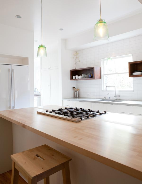 White Kitchens and Wood Countertops