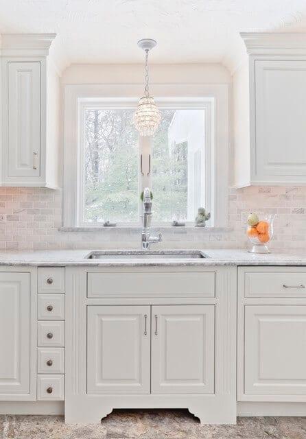 White on white kitchen.