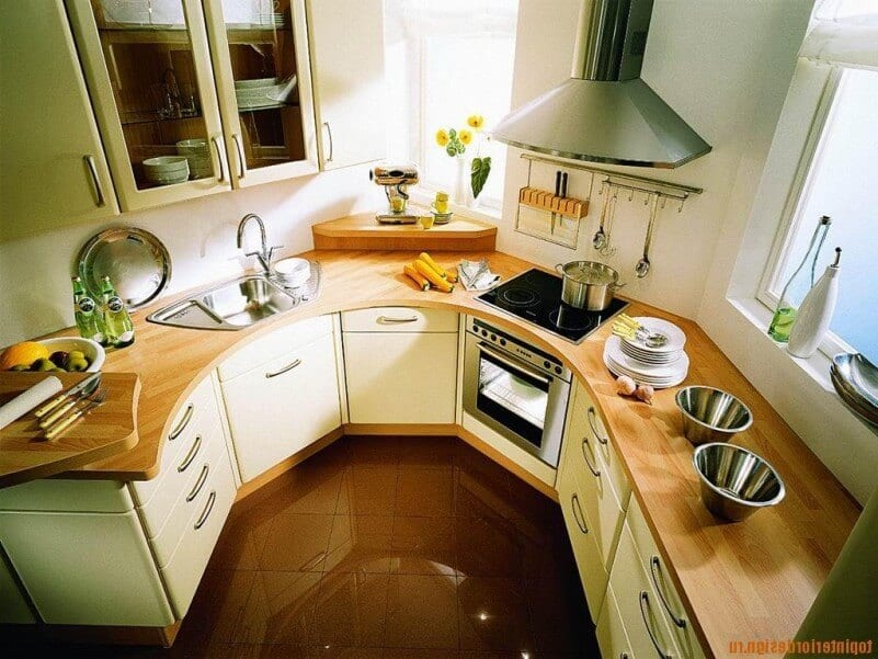 Wood counters in a small kitchen. & Wood Counters And Small Kitchens - J. Aaron