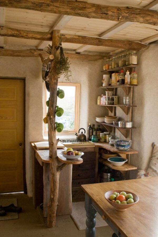 Rustic tiny kitchen.