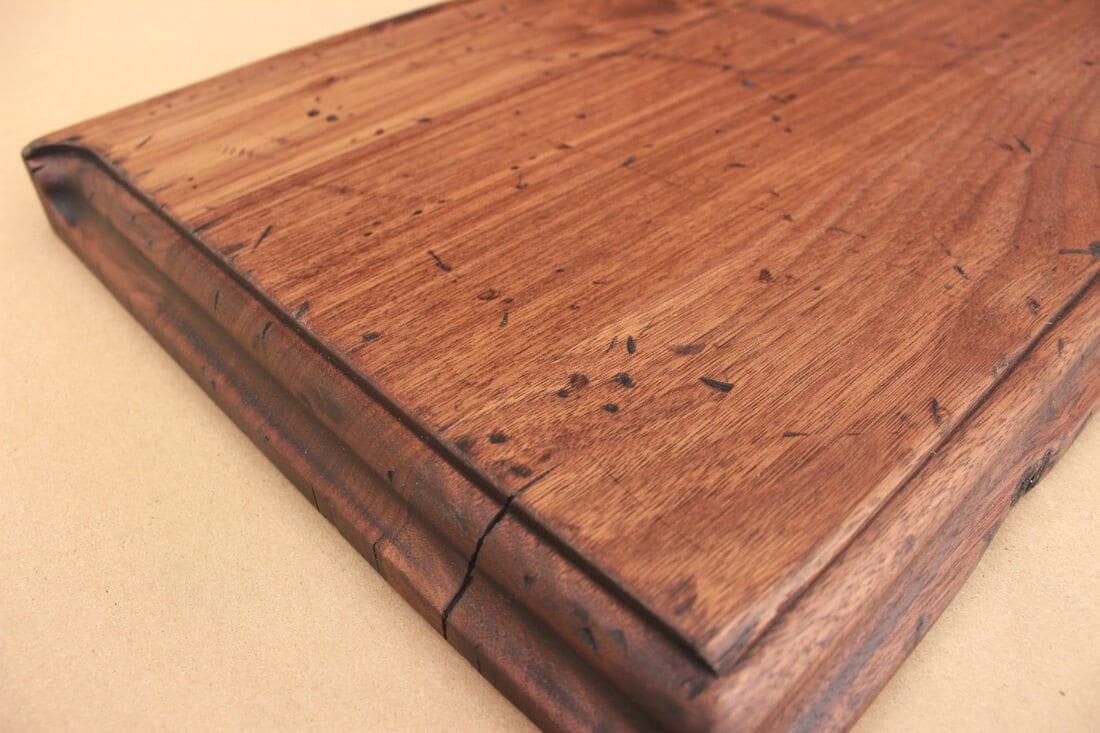Distressed wood countertop