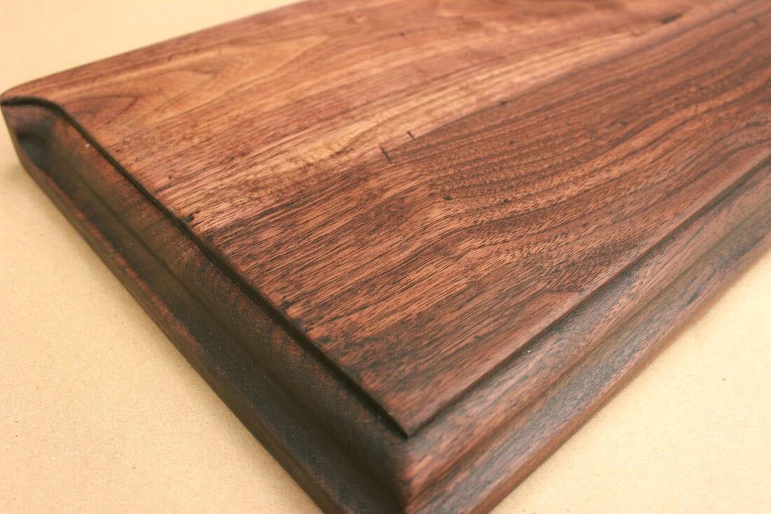 Distressed walnut countertop