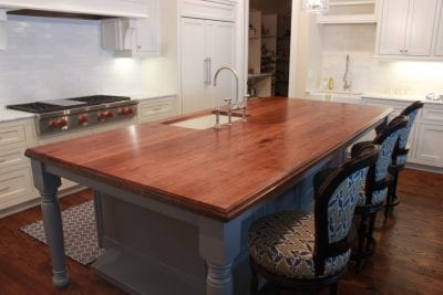 Walnut island countertop
